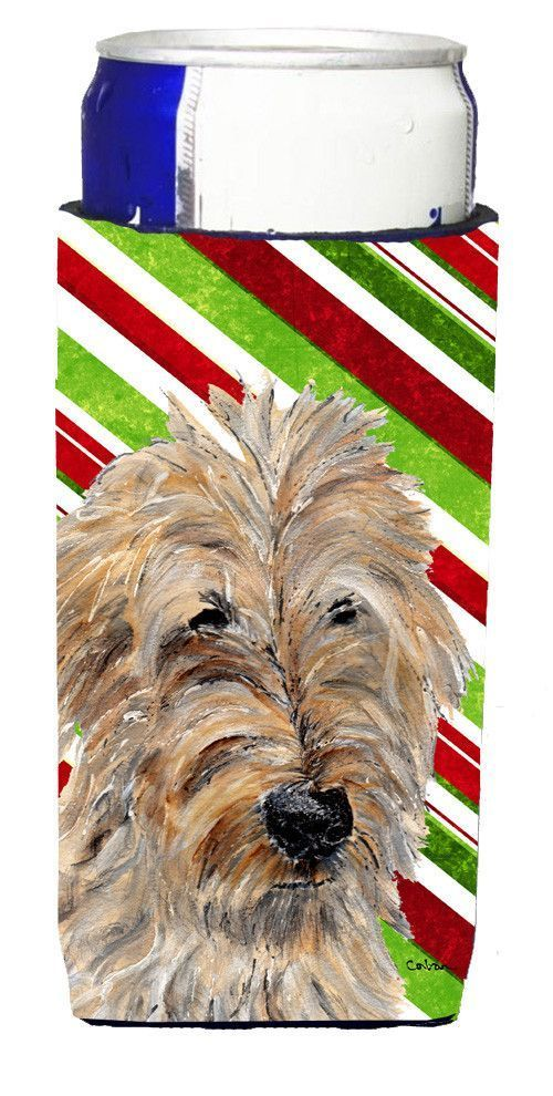 Photo of Golden Doodle 2 Candy Cane Christmas Ultra Beverage Insulators for slim cans SC9…