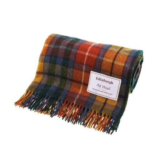 Wool Tartan Check Plaid Blankets Rug