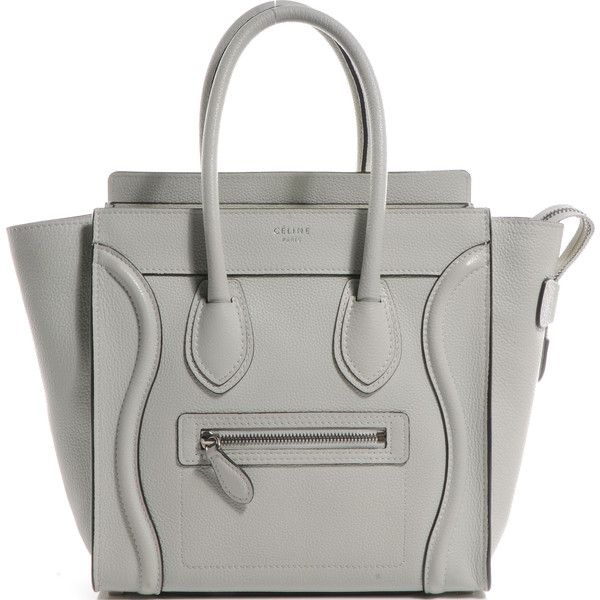 CELINE Drummed Leather Micro Luggage Lune ❤ liked on Polyvore featuring bags,  luggage, purses