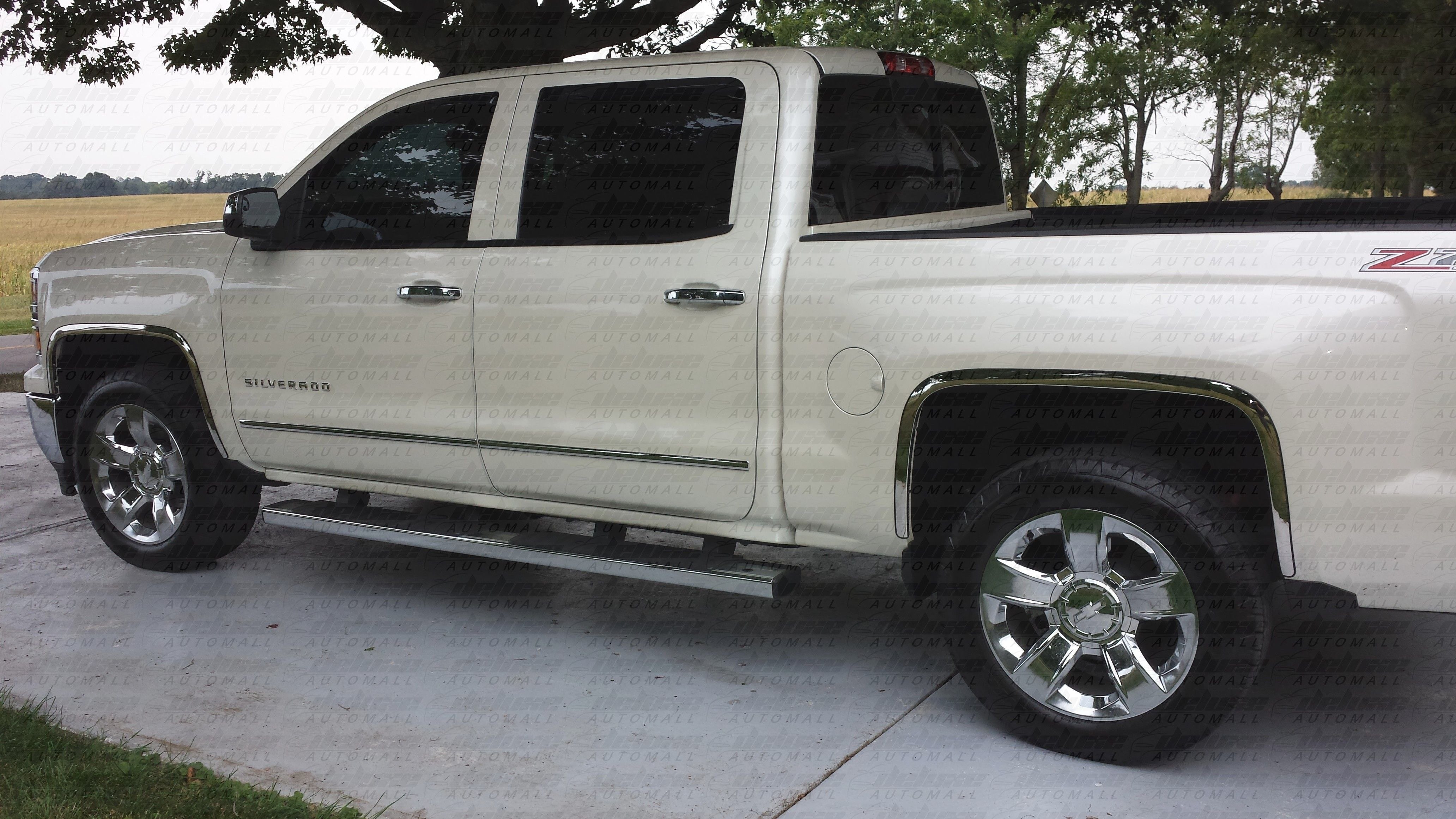 Upgrade your 2014 2015 chevrolet silverado with a set of new chrome fender trims
