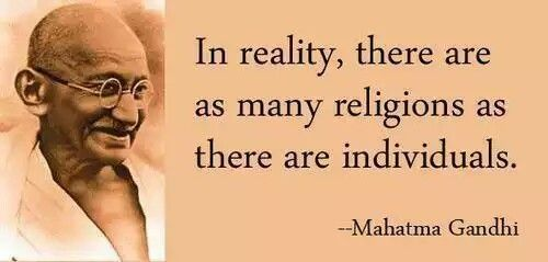 in reality there are as many religions as there are individuals
