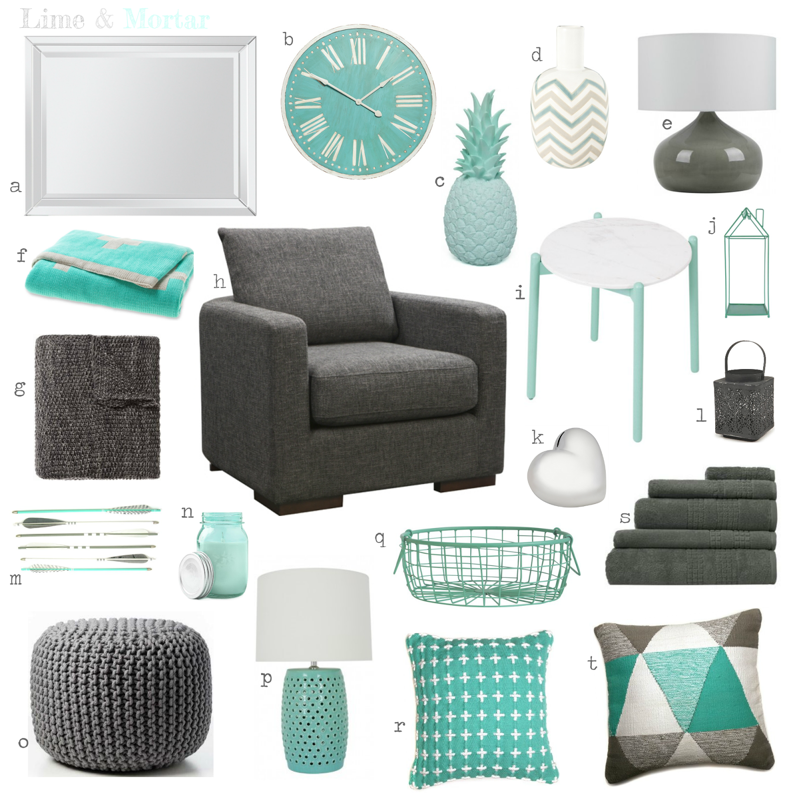 Grey With Turquoise Living Room: Guest Room Dark Grey & Teal