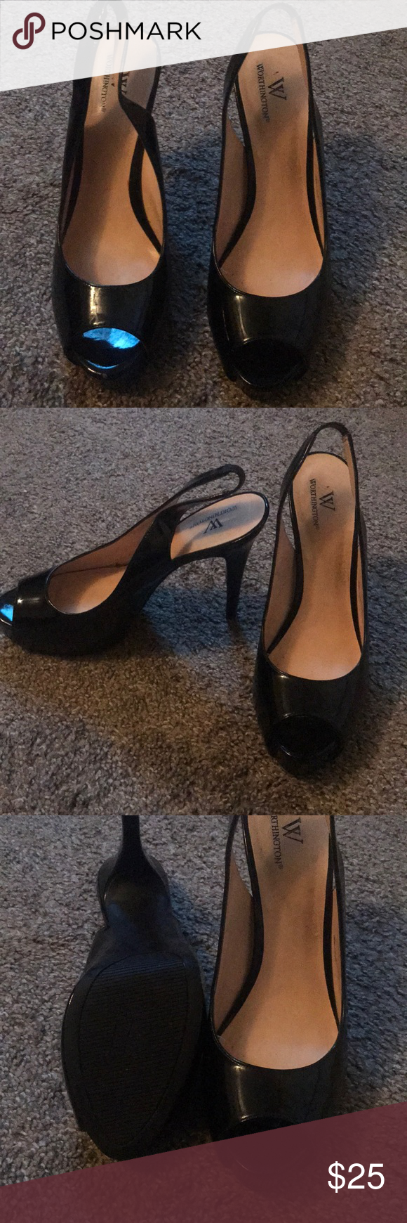 6e6caf3e58f92 Worthington women s pumps These peep-toe pumps are perfect for a day to  night platform pump and a wardrobe staple! 3 4 hidden platform 4 covered  heel ...