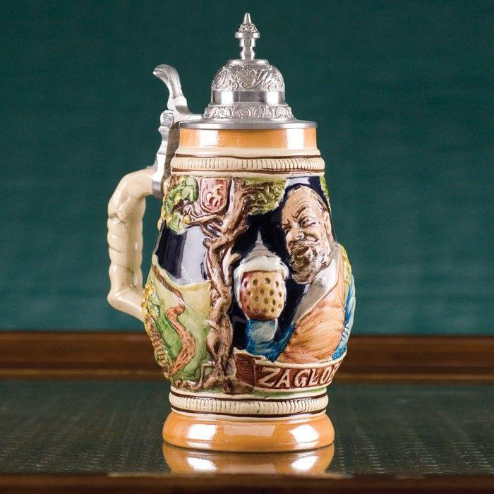 Ceramic Beer Stein Zagloba Of Sienkiewicz Trilogy 1