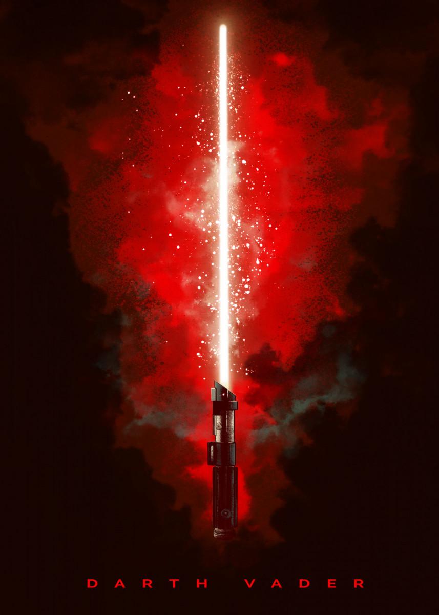 Revenge Of The Sith Poster Print By Star Wars Displate In 2020 Star Wars Background Star Wars Light Saber Star Wars Light