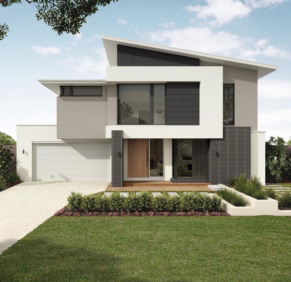 Facade House, 2 Storey House Design