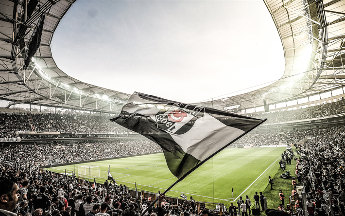 Download Wallpapers Vodafone Park Match Besiktas Flag Football Stadium Bjk Vodafone Arena Soccer Besiktas Stadium Turkey Turkish Stadium Besiktas Best Football Stadiums Vodafone Arena Sports Wallpapers