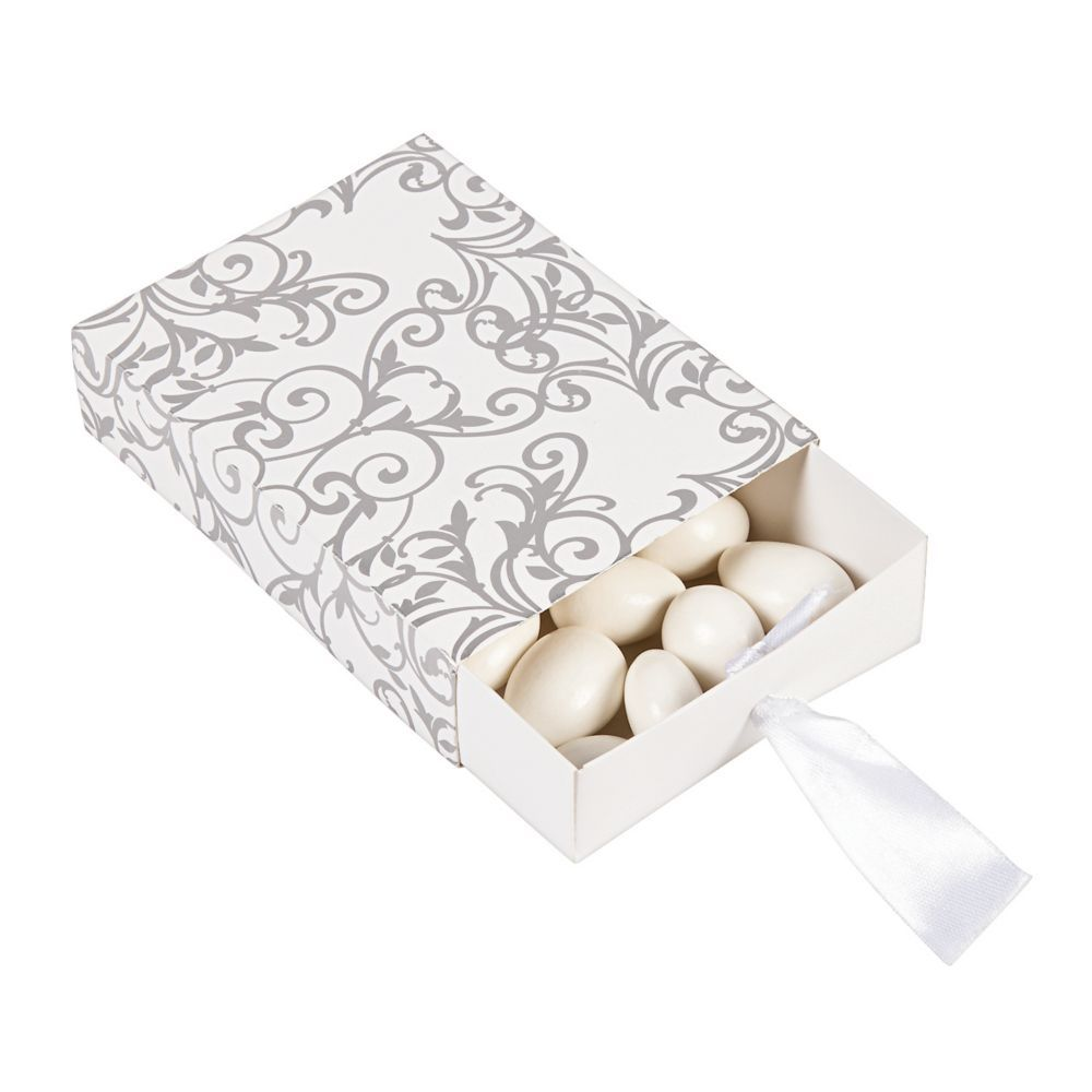 Silver Wedding Pull Favor Boxes | Products