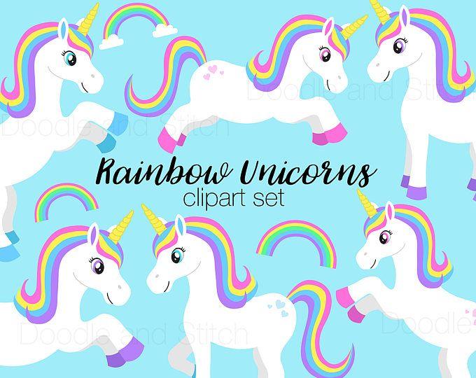 Rainbow Unicorn Clipart Cute Unicorn And Rainbow Clipart A031