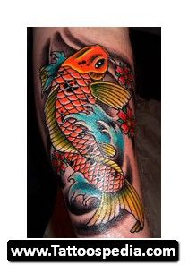 Coy fish tattoos for men for Koi fish meaning