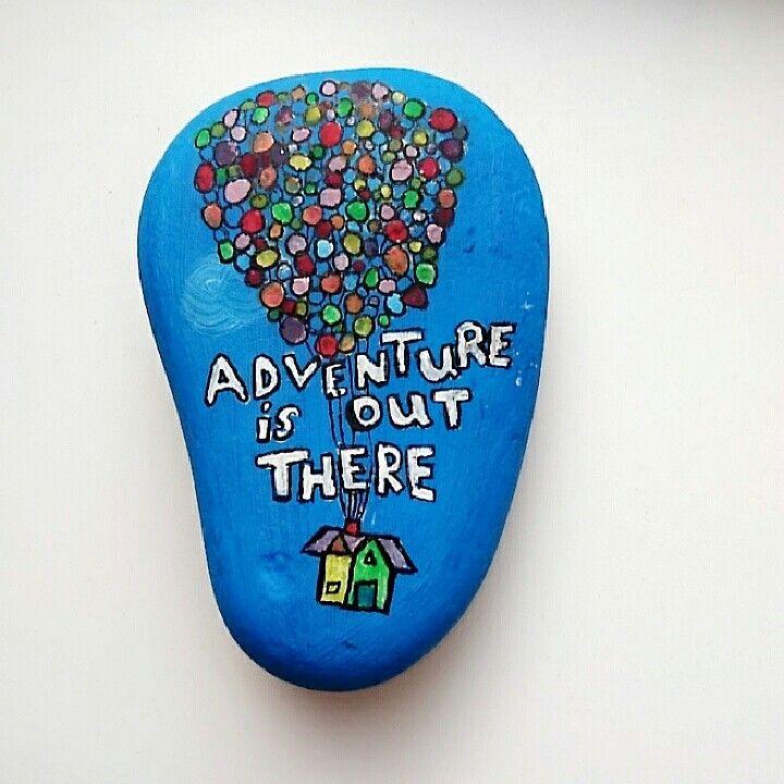 Painted pebbles. Disney quote