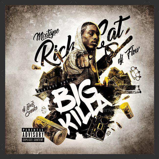 Rap Mixtape Cover Template template Pinterest Mixtape and - hip hop flyer template