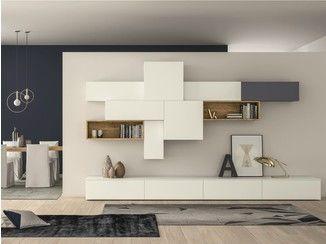Mueble modular de pared composable lacado SLIM 88 DallAgnese