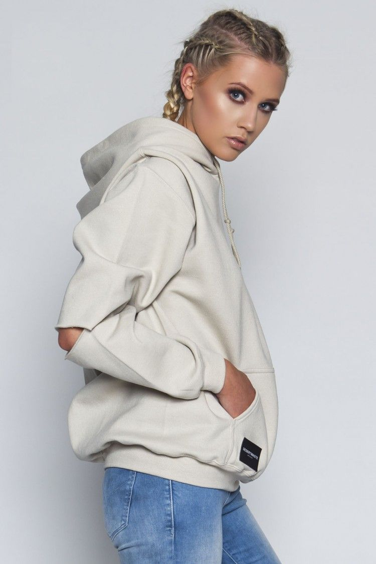 fcf31b17d Sand Open Cut Sleeve Hoodie - Tops - Clothing - Shop Ropa De Moda