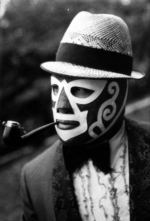 """""""Huracan Ramirez"""", Mexican wrestler. The 'Prince of Silk'"""