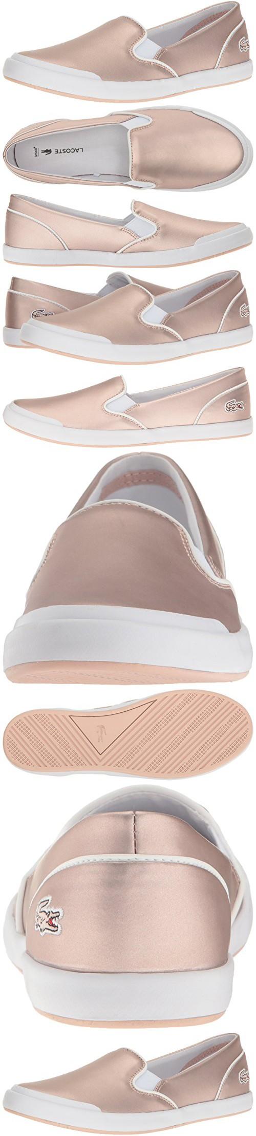 1a8f9a2c67196 Lacoste Women s Lancelle Slip on 117 2 Fashion Sneaker