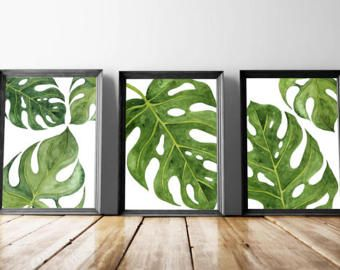 Beach Art Prints Watercolor Beach Nursery Art Tropical Palm ...