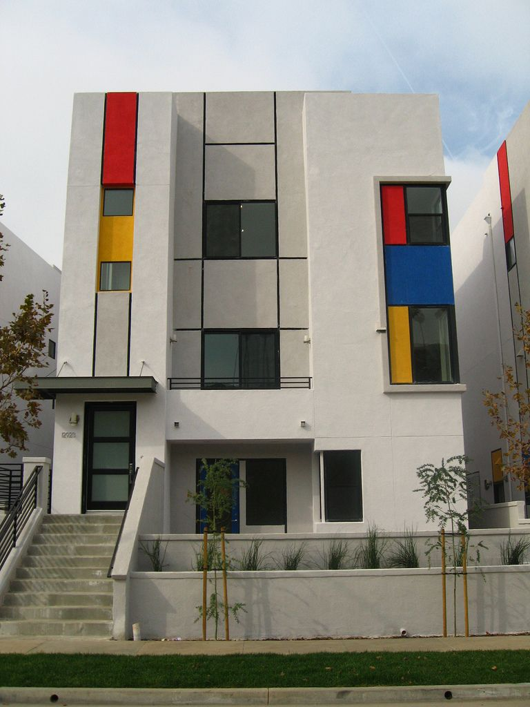 Mondrian houses great architecture architecture art for Architect moderne stijl