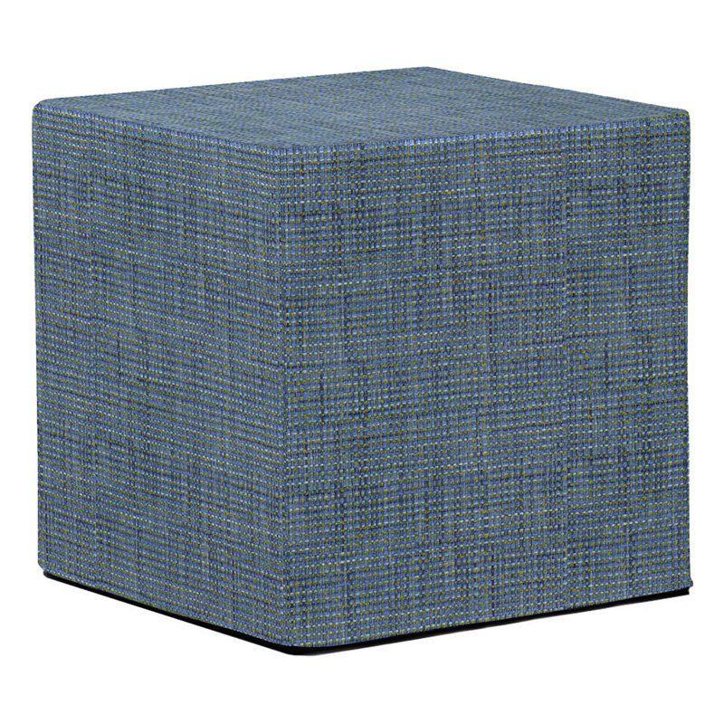 Howard Elliott No Tip Block Coco Ottoman Sapphire - 850-889