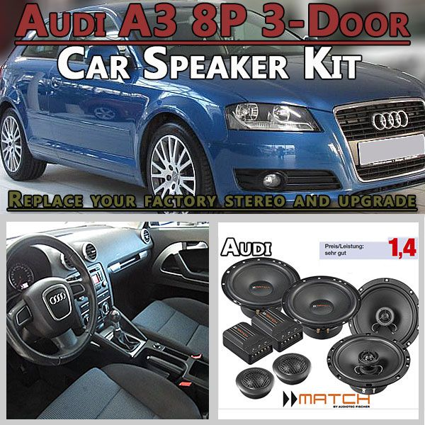 Audi A3 8p 3 Door Car Speakers Upgrade Kit For Front And Rear Side Panel Car Hifi Radio Adapter Eu Audi A3 8p 3 Door Hatchback 2003 2 Audi A3 3 Door Car Audi