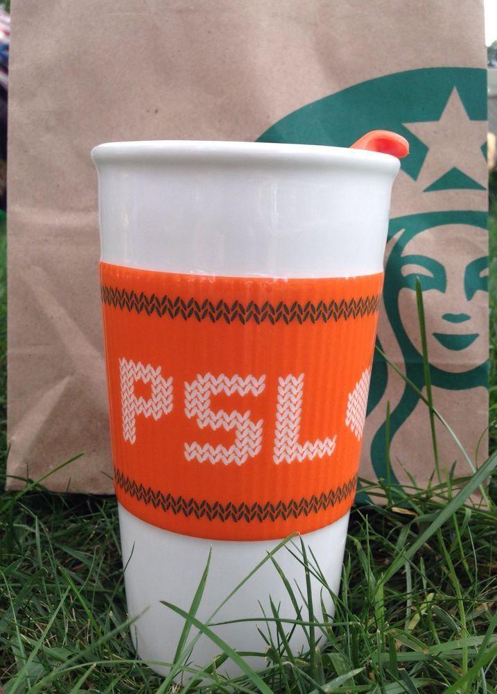 New Starbucks Team Psl Ceramic Tumbler Mug Pumpkin Spice Latte Cup 10 Oz Coffee Pumpkin Spice Latte Latte Cups Ceramic Tumbler