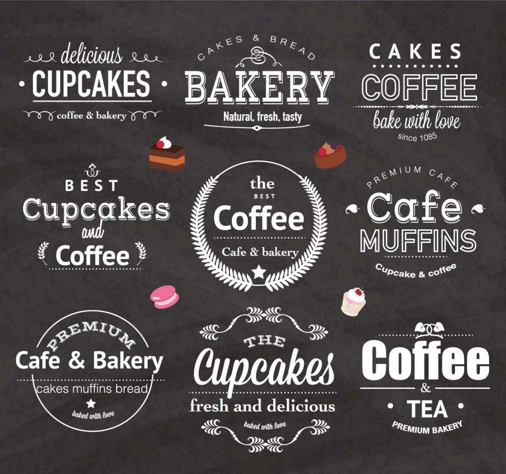 Vintage Bakery Cafe Logo Design Set Vector Free Download Cafe Logo Design Bakery Cafe Logo Vintage Bakery