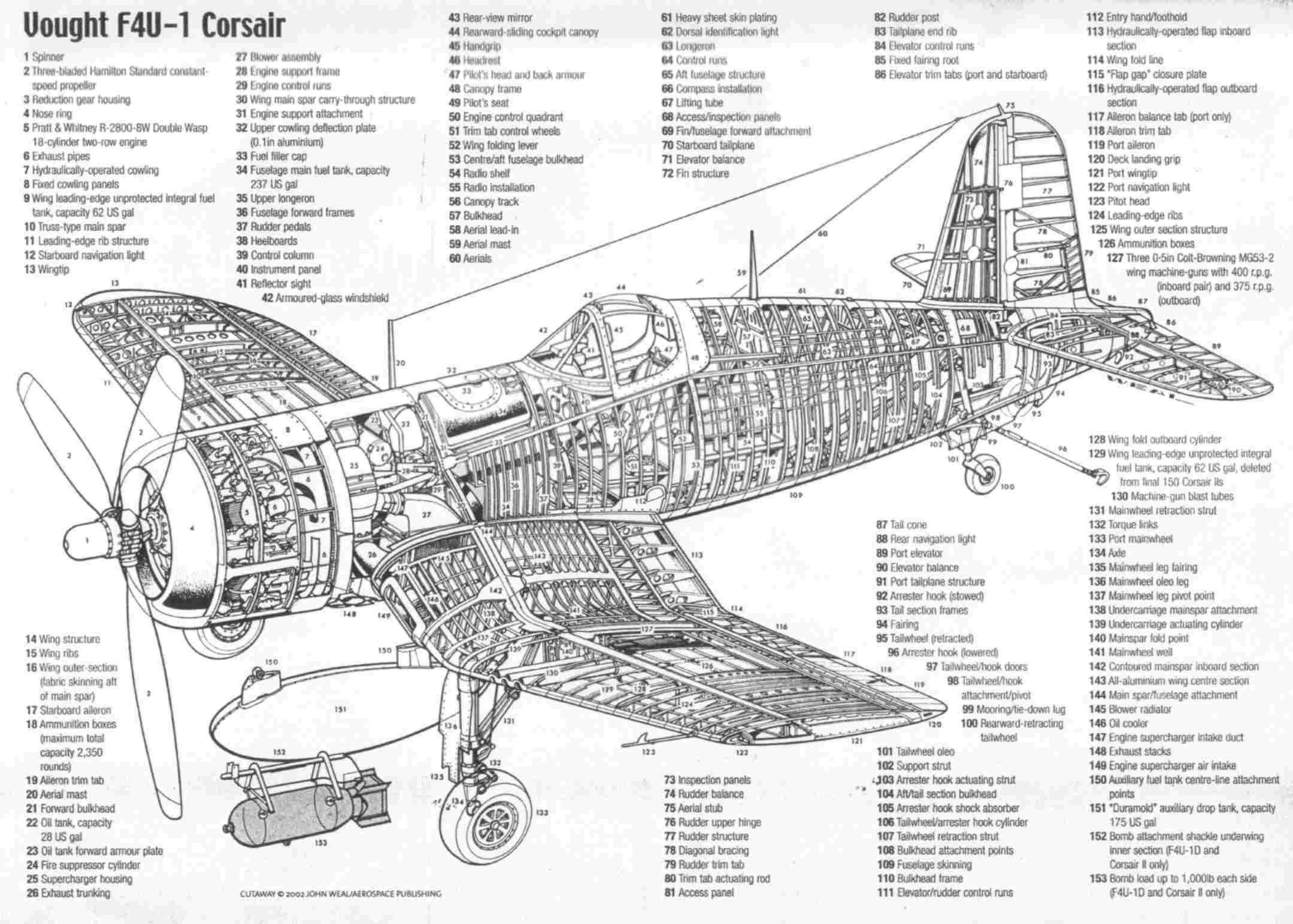 F4U1 Corsair defined Aviation Pinterest Cutaway