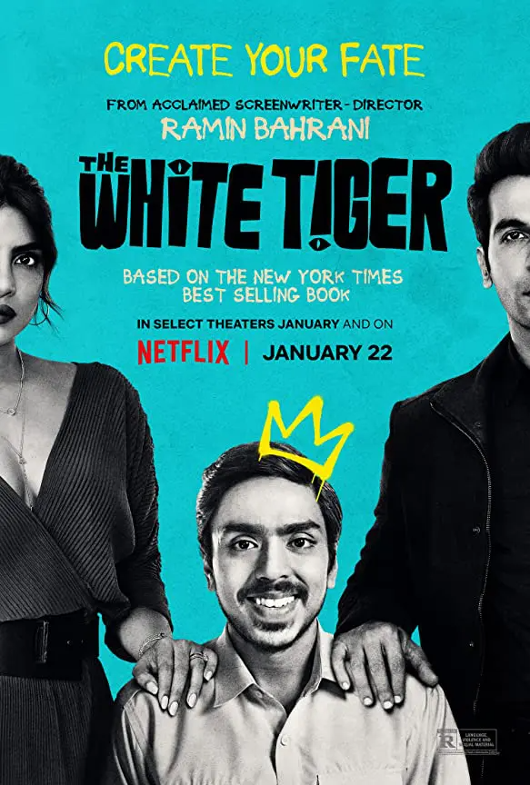 The White Tiger Trailer Coming To Netflix January 22 2021 White Tiger Hindi Movies Tiger