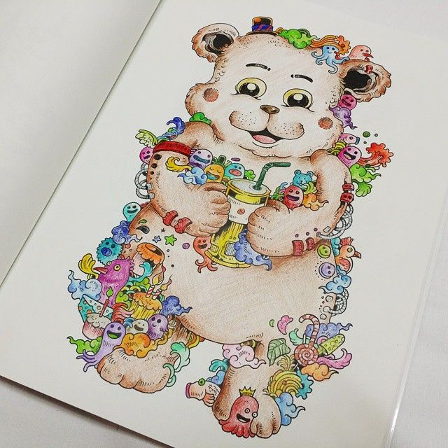 Doodle Invasion The Highly Detailed Coloring Book That Adults
