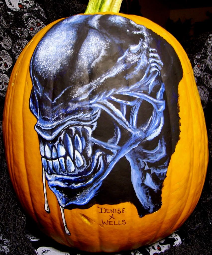 Scary Pumpkin Painting Scary Blue Painting Google Search Bill Pinterest Blue