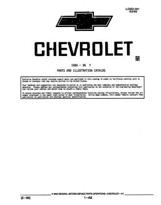 1984 1996 chevrolet parts and illustration catalog scr1 repair 1984 1996 chevrolet parts and illustration catalog scr1 fandeluxe Gallery