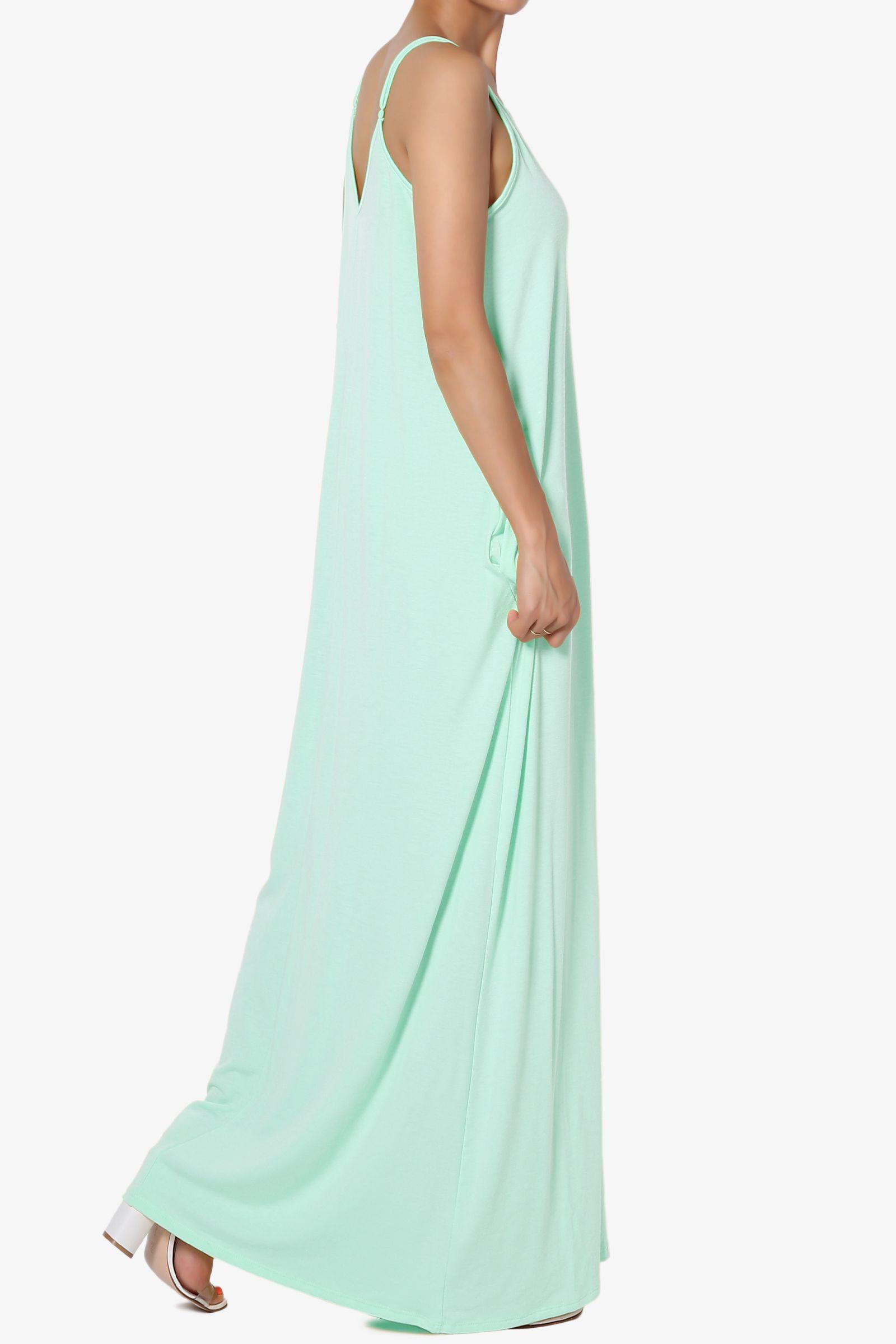 Themogan Themogan Women S Plus V Neck Draped Jersey Casual Beach Cami Long Maxi Dress W Pocket Walmart Com Long Maxi Dress Maxi Dress Dresses [ 2400 x 1600 Pixel ]