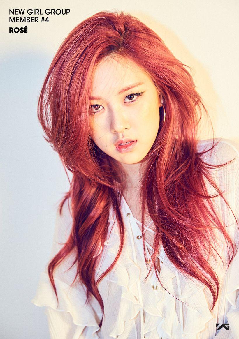 Pink Hair Rose Pink Blackpink Rose Hairstyle Pinterest