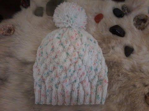 07993f047b9 tuto tricot bonnet bébé ( 3 mois ) - YouTube