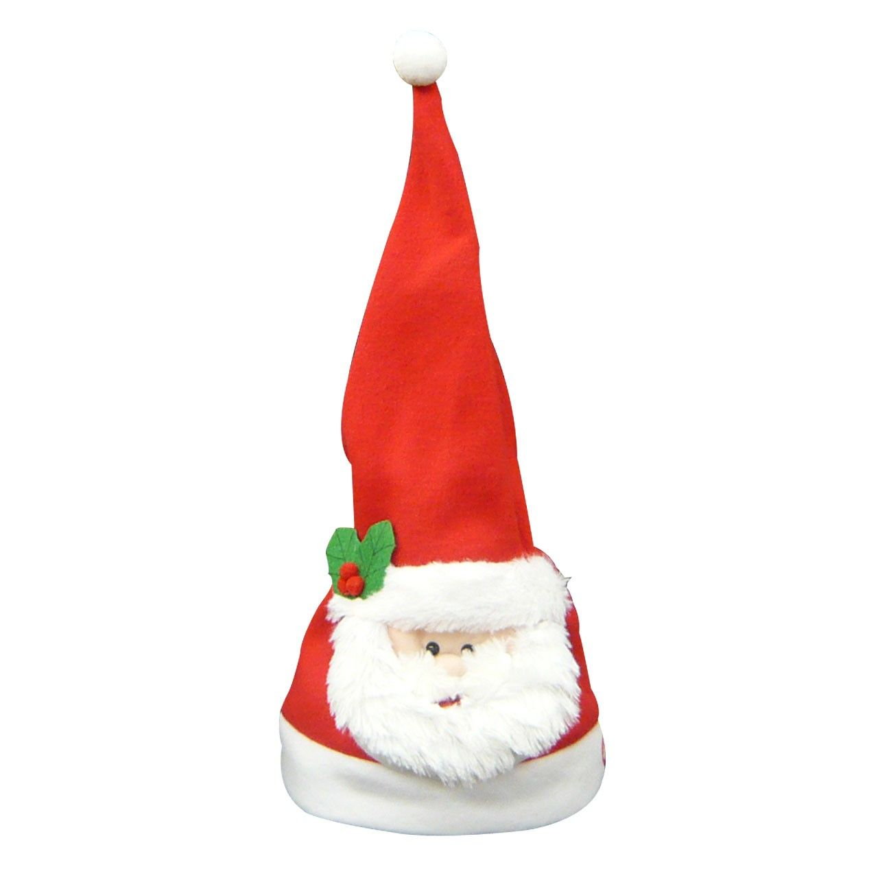 シンギングフェイスハット サンタクロース 顔左の「PRESS HERE」ボタンを押すと音楽が流れ動き出します。(ジングルベル)