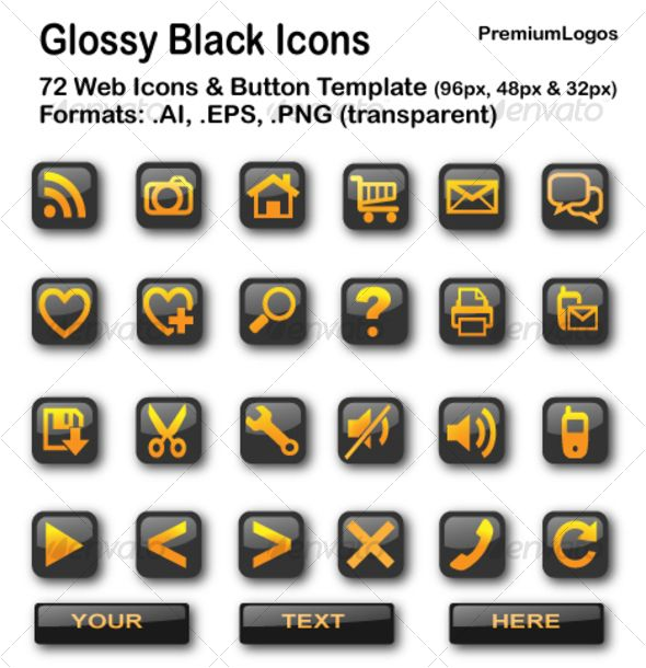 Glossy Black Icons Icon Best Icons Glossy