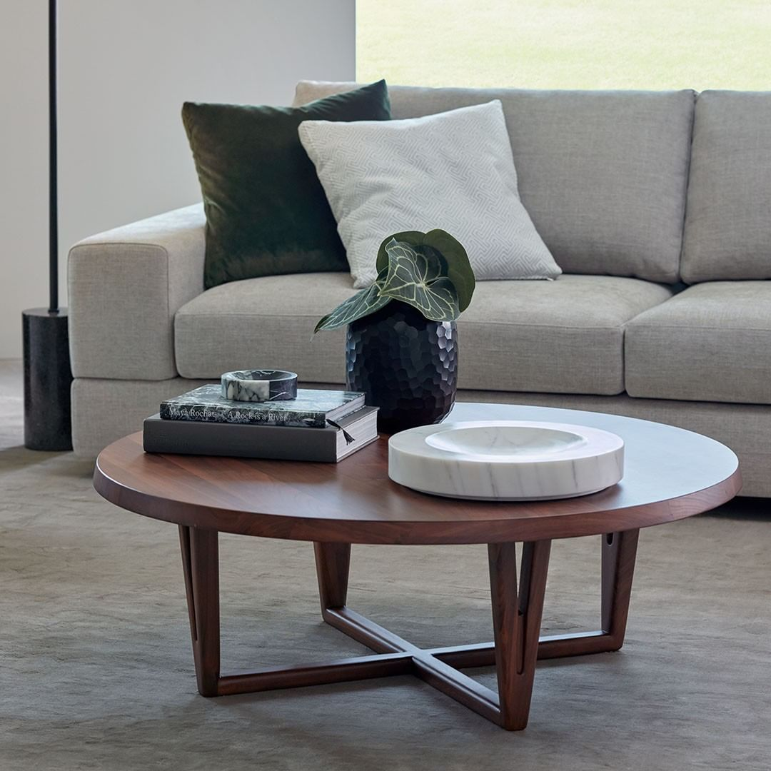 King Living On Instagram The Aspen Coffee Table Offers A Beautiful Classic Aesthetic That Will Work Harmoniously In You Coffee Table Round Coffee Table Table [ 1080 x 1080 Pixel ]