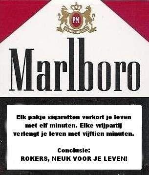 Moppentap: Grappige plaatjes -Een pakje sigaretten