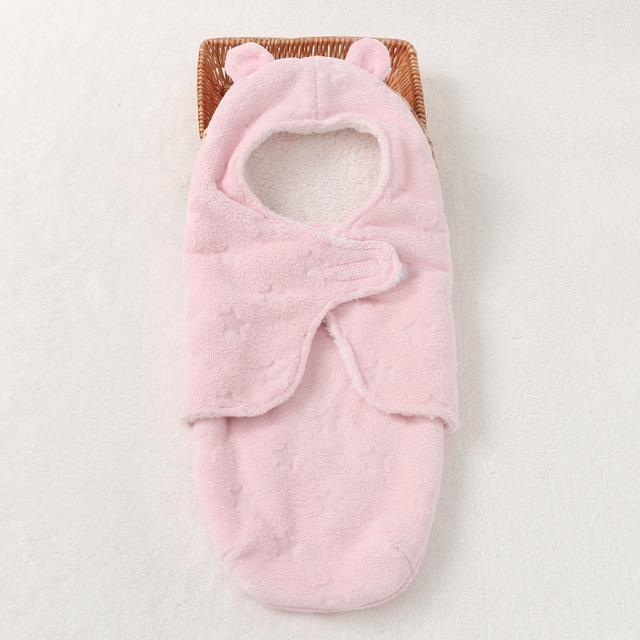 042f317496 Winter Baby Swaddle Wrap Coral Fleece Newborn Baby Blanket Sleeper Infant  Bebe Envelope Stroller Wrap Toddlers Baby Sleeping Bag