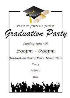 This Came From Www Allfreeprintable Com I Chang Graduation Party Invitations Templates Graduation Invitations Template Graduation Party Invitations Printable
