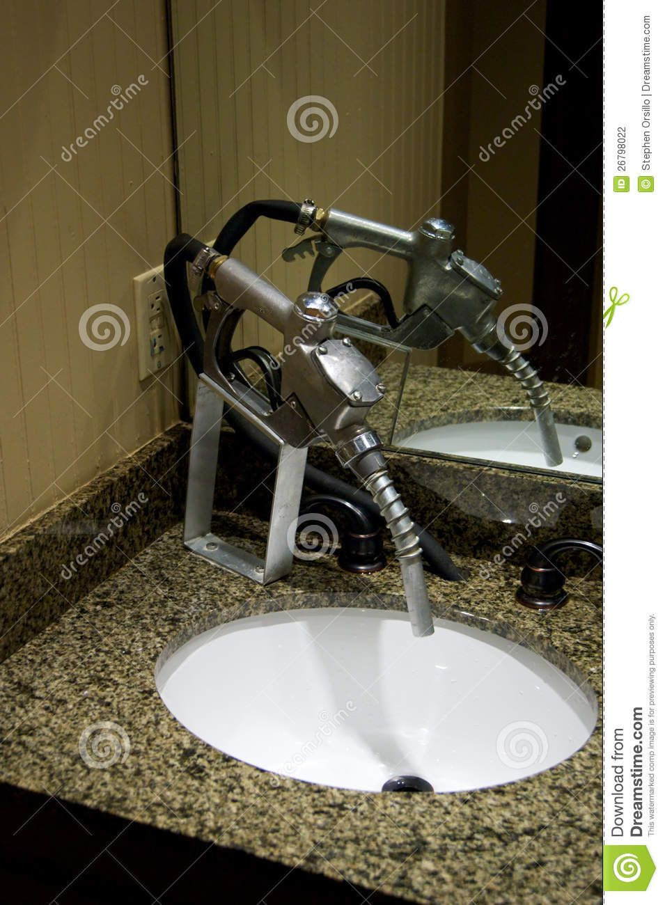 Faucet From Gas Nozzle Gas Pump Nozzle Has Been Converted To A