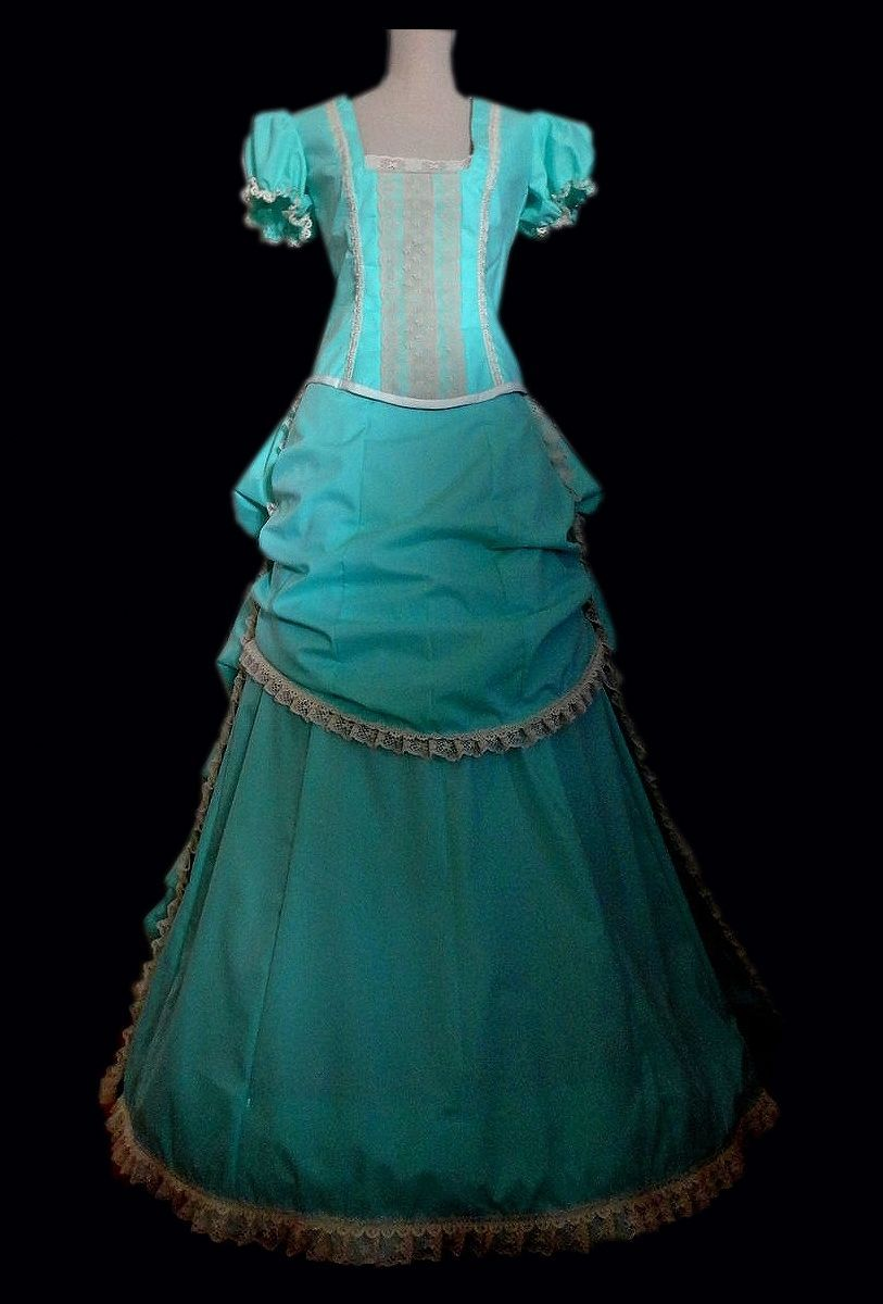 Custom Made Late 1800\'S Bustle Style Ball Gown Or Wedding Dress ...