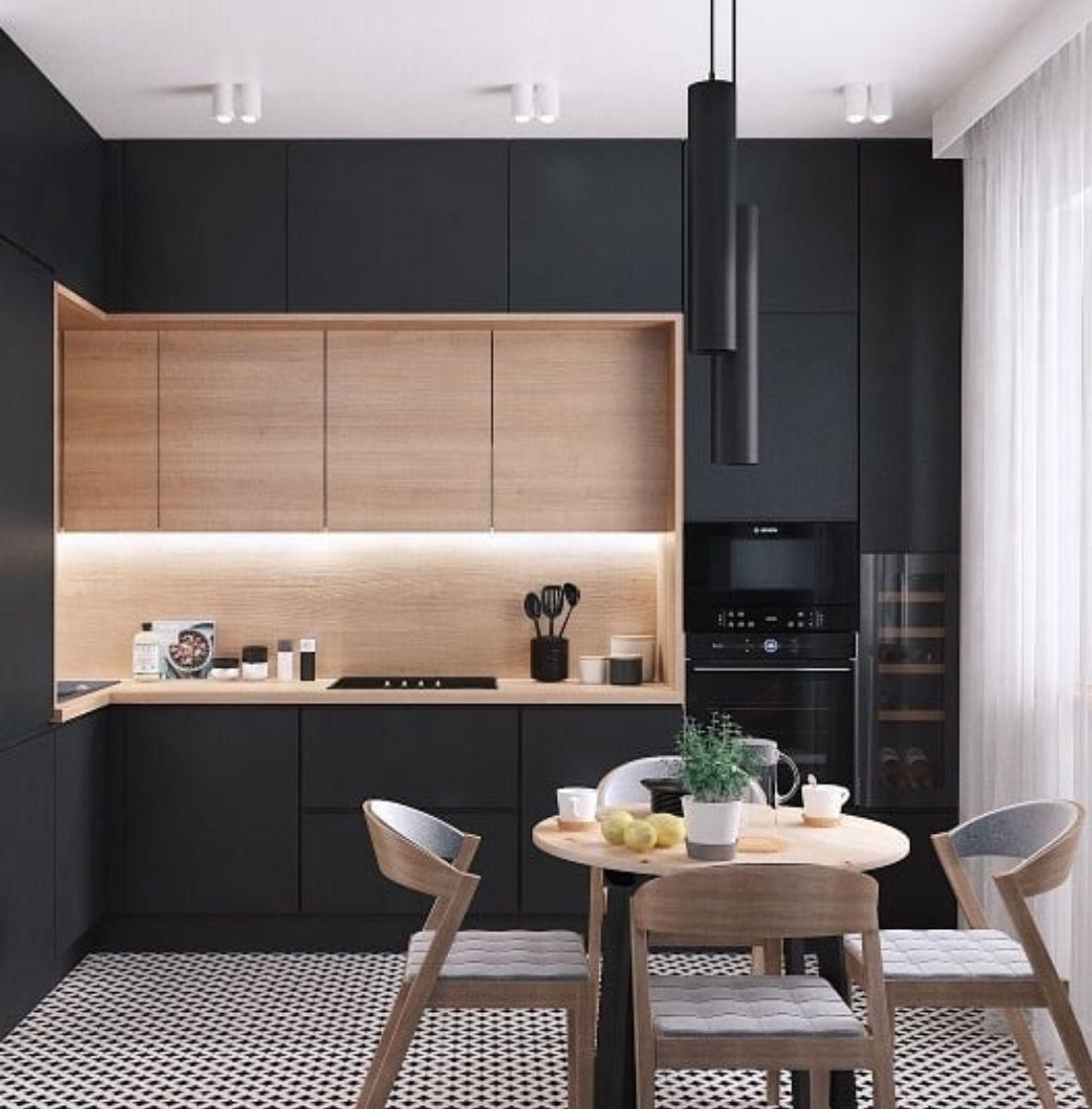 Pingl par camelia stroe sur buc t rie en 2019 cuisine appartement cuisine moderne et - Mini cuisine equipee ...