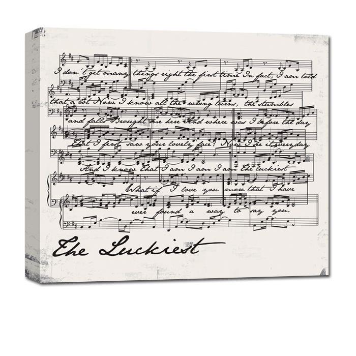 Sheet Music Wall Art sheet music canvas art music notes wall art personalized gift for
