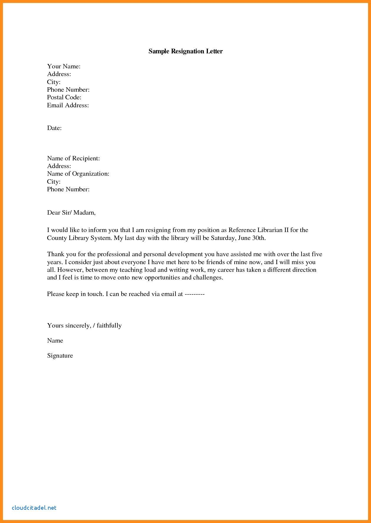 12 Formal Resignation Letter Template Free Word Excel Pdf