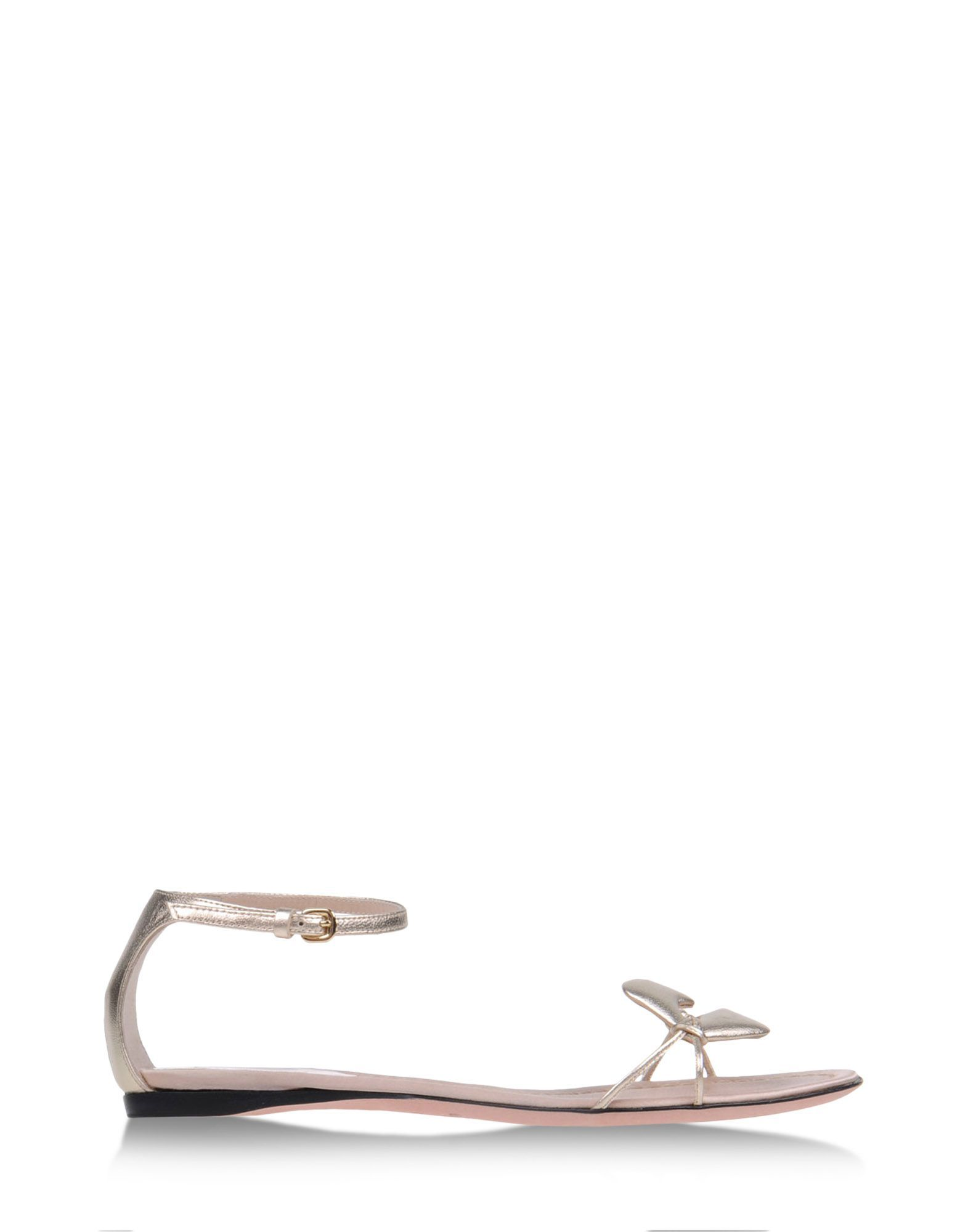 Metallic Shoes at #ShopBAZAAR - Giambattista Valli Champagne Gold Lips Sandals