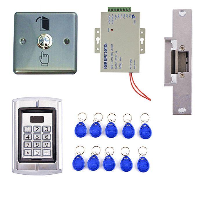 Diy Door Access Controls Kit Secure Door Lock Rfid Strike Lock Door Bell Card Reader Intercome Diy Door Access Control Kit