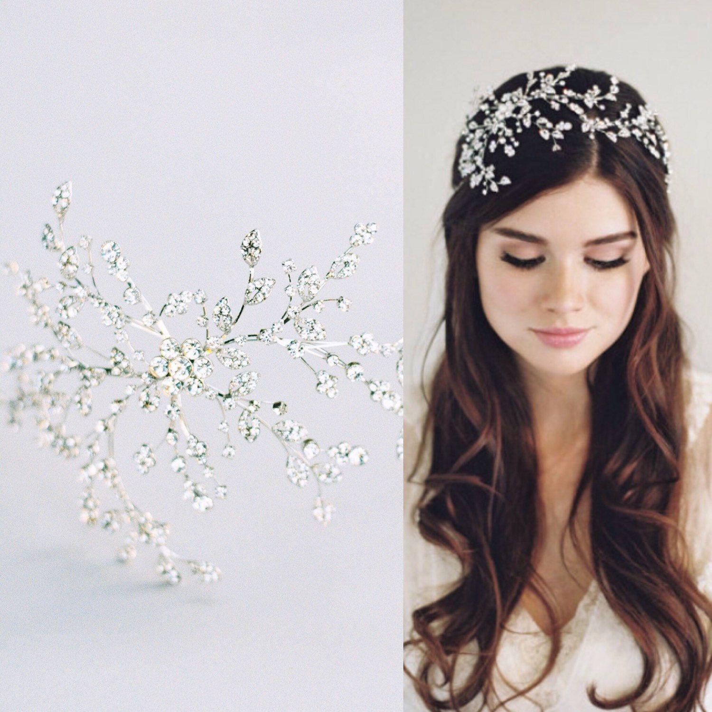 Silver Wedding Tiara, Gold Wedding Crown, Bridal Crystal Crown ...