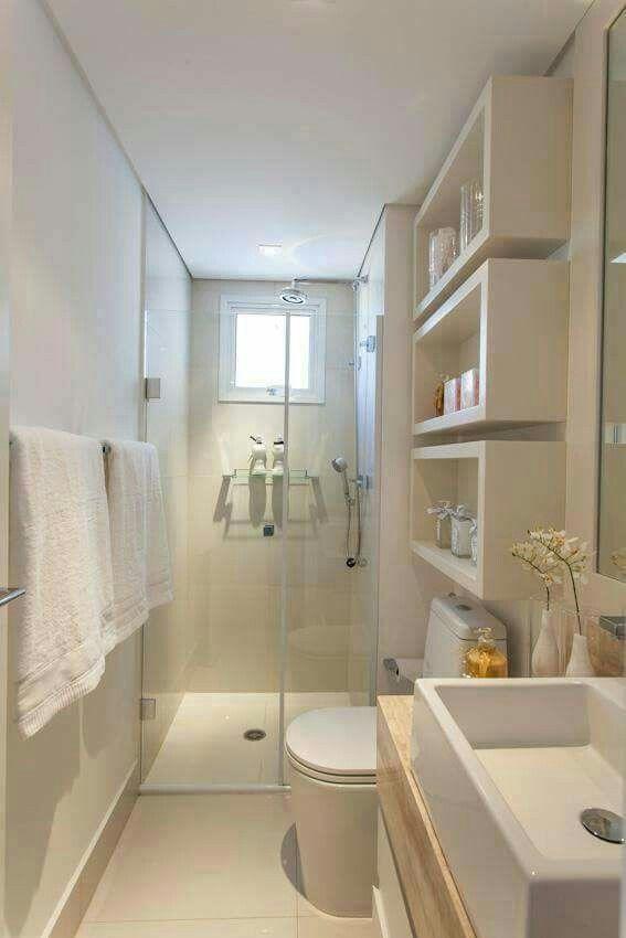 Fino Y Largo Como Decorar Banheiro Pequeno Banheiros Modernos