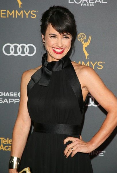 Constance Zimmer attends the Television Academy Reception honoring the 68th Emmy Award Performer Nominees in West Hollywood.